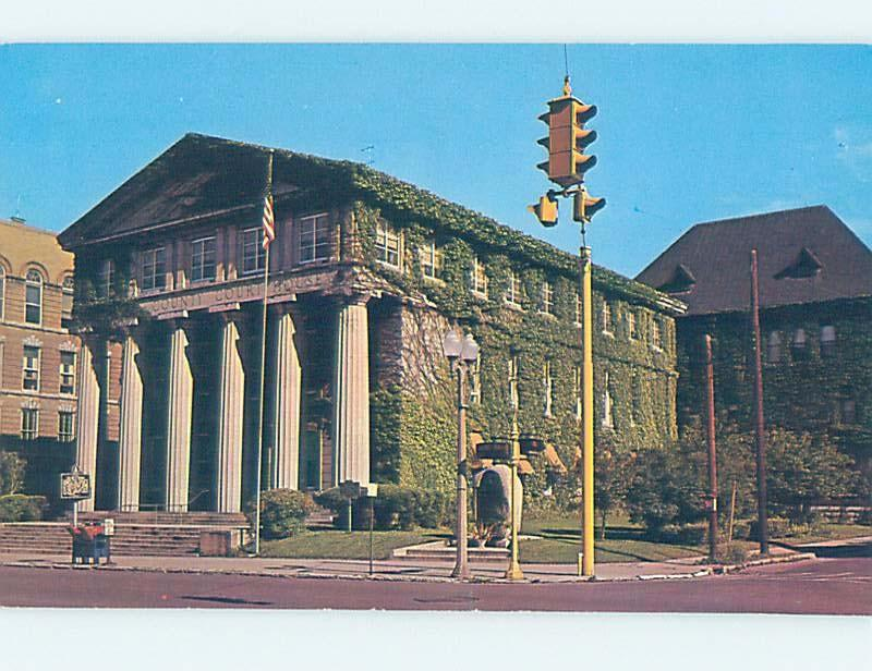 Unused Pre-1980 COURTHOUSE SCENE Finger Lakes - Auburn New York NY d2438