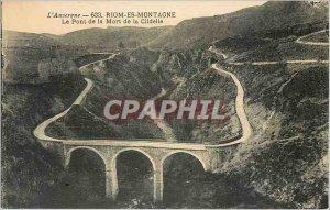 Old Postcard Auvergne Bridge death of Clidelle