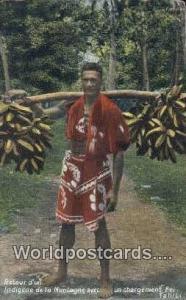 Tahiti French Polynesia Retour d un Indigene de la Montagne Tahiti Retour d u...