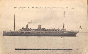 La Lorraine French Line Ship Unused