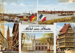 Grenzstadt Kehl am Rhein, Strassburger Muenster Europa Haus Rheinbruecke Auto