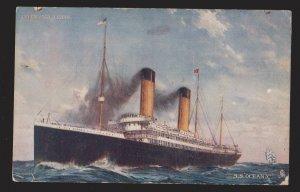 SHIP - SS Oceanic White Star Line - 1910s - Unused - Edge & Corner Wear
