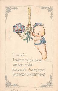 B73/ Kewpie Rose O'Neill Artist Signed Postcard 1924 Merry Christmas Fancy 6