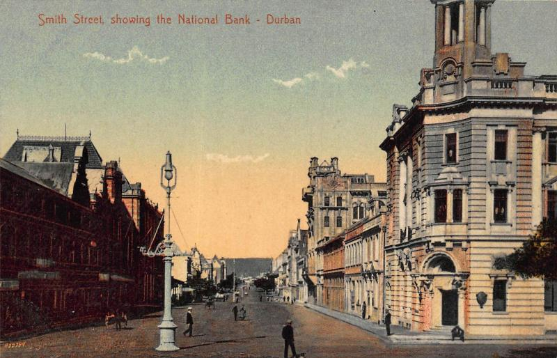 South Africa Durban Smith Street National Bank postcard