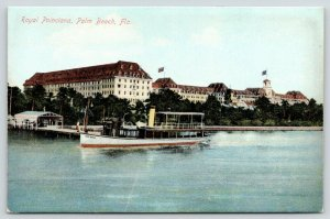 Palm Beach Florida~Royal Poinciana~Pleasure Boat Palm Beach @ Dock~c1910