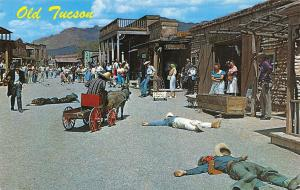 Tucson Arizona~Old Tucson Western Theme Park~Gun Battle~Candle Shop~1968 PC