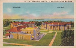Wisconsin Madison Men's Dormitories University Of Wisconsin Curteich