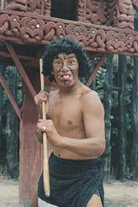 ROTORUA, New Zealand, 1950-1970's; Maori Challenge, Whakarewarewa
