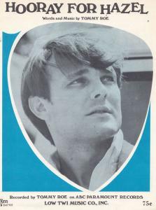 Hooray For Hazel Tommy Roe 1960s Sheet Music