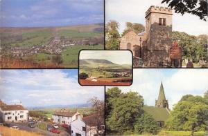 Lancashire Postcard Pendle Hill and Surrounding Area Multi View 53E