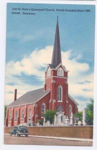 Lewes Delaware DE St Peters Episcopal Church Vintage Linen