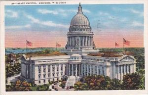 Wisconsin Madison State Capitol 1936