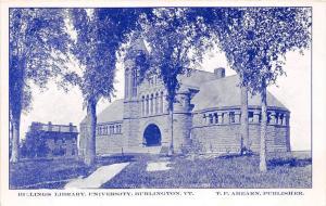 19568 VT Burlington, University of Vermont, Billings Library