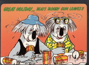 Australia Comic Postcard - Great Holiday, Aussie Beer, Victor Harbor   RR1033