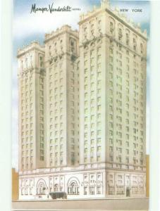 Unused Pre-1980 MANGER VANDERBILT HOTEL New York City NY hr6370