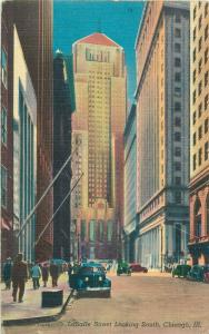 United States LaSalle street looking south Chicago