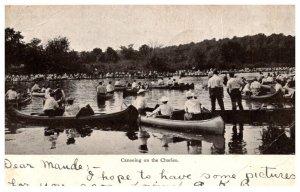 Massachusetts Boston  Canoeing on the Charles