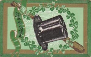 Saint Patrick's Day Erin Go Bragh With Shamrocks & Tophat