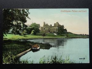 Scotland West Lothian LINLITHGOW PALACE & LOCH c1911 Postcard by Valentine
