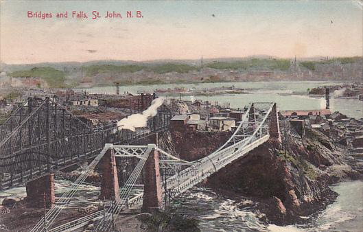 Canada Bridges and Falls St John New Brunswick 1908