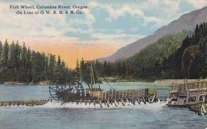 Oregon Fish Wheel On The Columbia River 1912