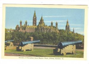Houses Of Parliament From Nepean Point, Cannons, Ottawa, Canada, 1910-1920s