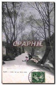 Postcard Old Lyon's Tete d'Or Park