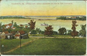 Falmouth, Me., Little and Great Diamond Island in the distance