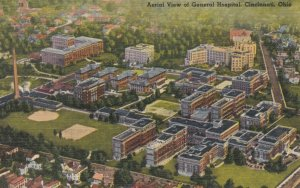 CINCINNATI, Ohio, 1930-40s;  Aerial View of General Hospital
