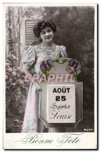 Old Postcard Fantaisie Louise Surname