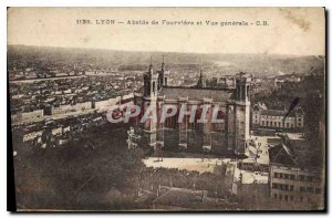 Old Postcard Lyon Fourviere and Apse of General view
