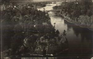 Taylors Falls MN Birdseye View c1920 Real Photo Postcard