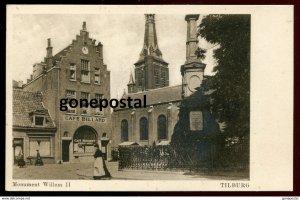 dc872 - NETHERLANDS Tilburg 1930s Monument Willem II. Cafe Billard