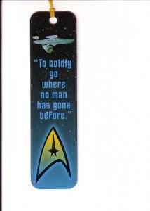 Star Trek  Enterprise, To Boldly Go...., Tasseled Bookmark 1997