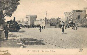 Tunisia Sousse La Place Pichon Train Posted 03.76