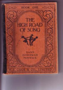 The High Road of Song, Book One, 1948, Dann, Foresman, Fenwick, WJ Gage & Co,...