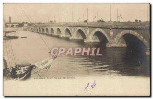 Postcard Old Stone Bridge Bordeaux Bastide