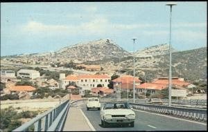 curacao, N.W.I., WILLEMSTAD Otrabanda, New Bridge, V.W. VW Beetle Car (1978)