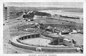 Durban South Africa Sunken Gardens Birdseye View Antique Postcard K76840