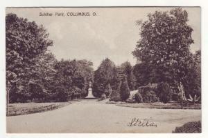 P188 JLs 1910 postcard schiller park columbus ohio