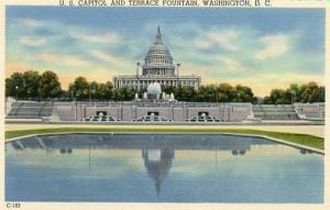 DC - Washington, U S Capitol & Terrace Fountain