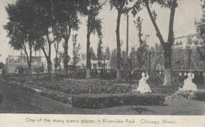CHICAGO, Illinois, 1900-10s ; One of the many scenic places in Riverview Park