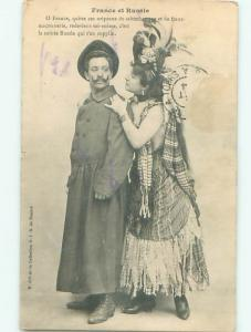 1904 Alliance french woman with russian man FRANCE AND RUSSIA AB7792