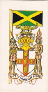 Vintage Trade Card Brooke Bond Tea Flags and Emblems Of The World No 14 Jamaica