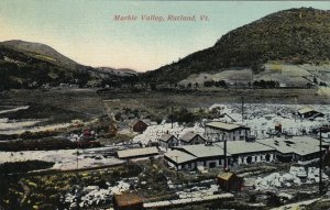 Vintage Hand Colored Photo Postcard Marble Valley Rutland, Vermont Marble Valley