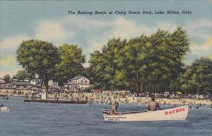 The Bathing Beach at Craig Beach Park, Lake Milton, Ohio, 30-40s