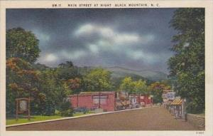 North Carolina Black Mountain Main Street At Night