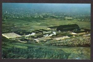 OH Aerial Birdseye Goodyear Plant AKRON OHIO Postcard