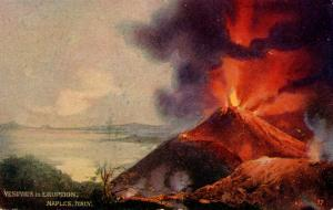Italy -  Naples. Mt Vesuvio Eruption.