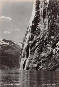 GEIRANGER NORWAY NORGE BRUDESLØRET~PETTER MEROK PHOTO POSTCARD